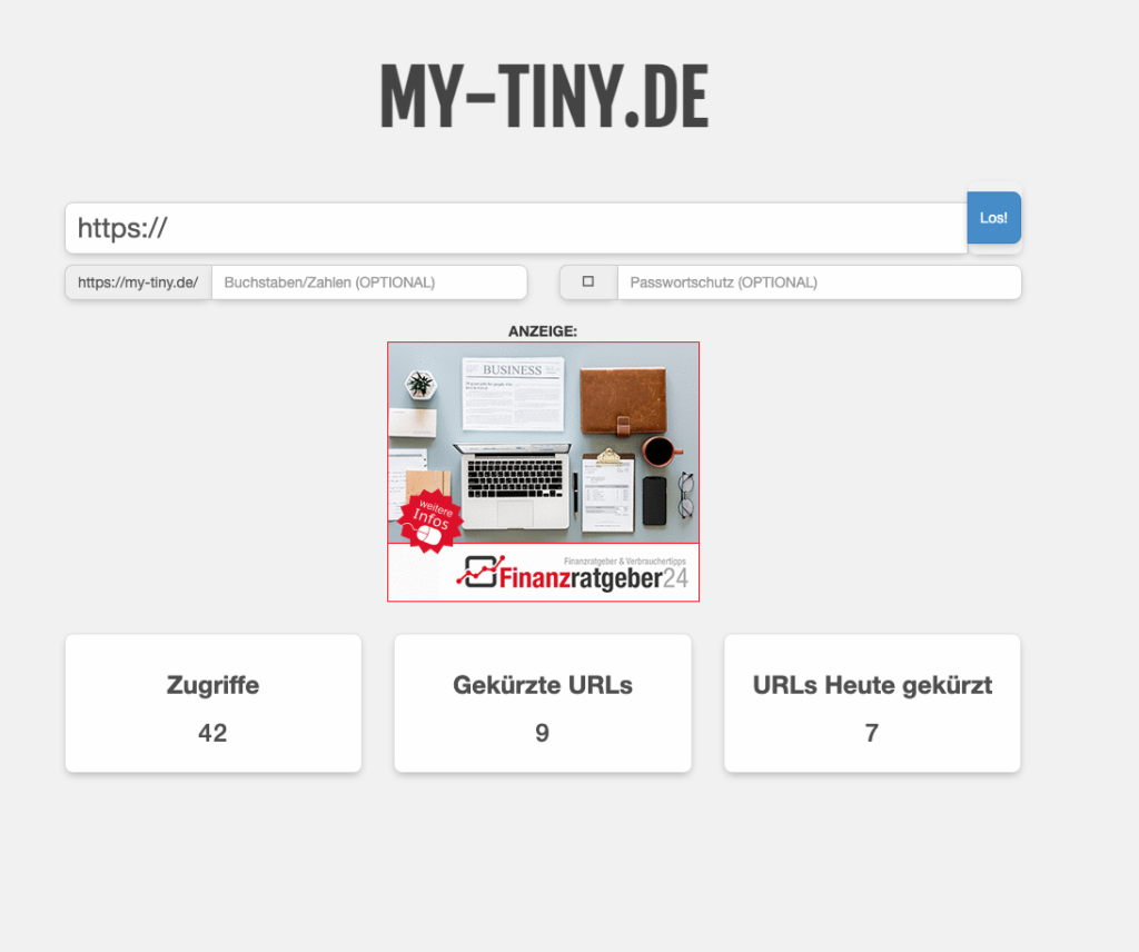 URL Verkürzer My-Tiny